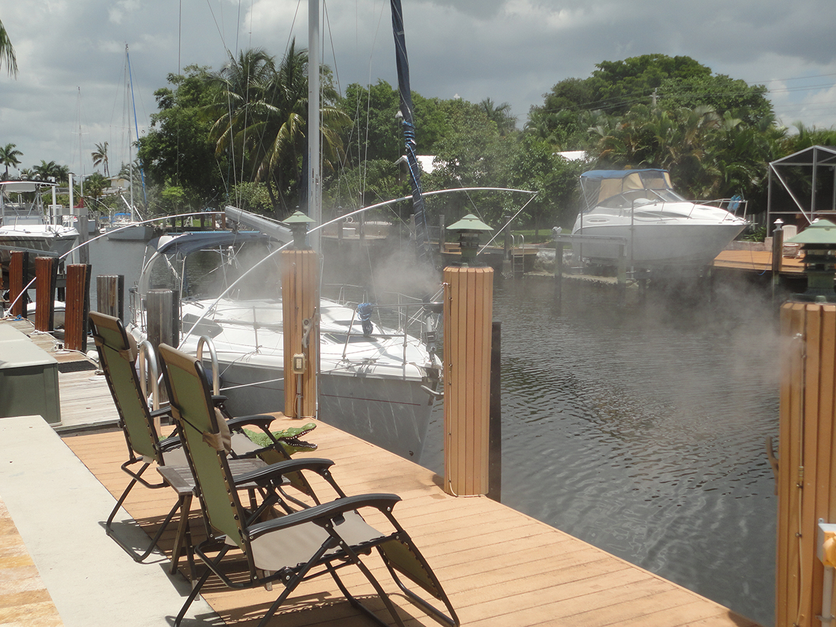 Landscape And Pool Outdoor Mist Cooling Systems The