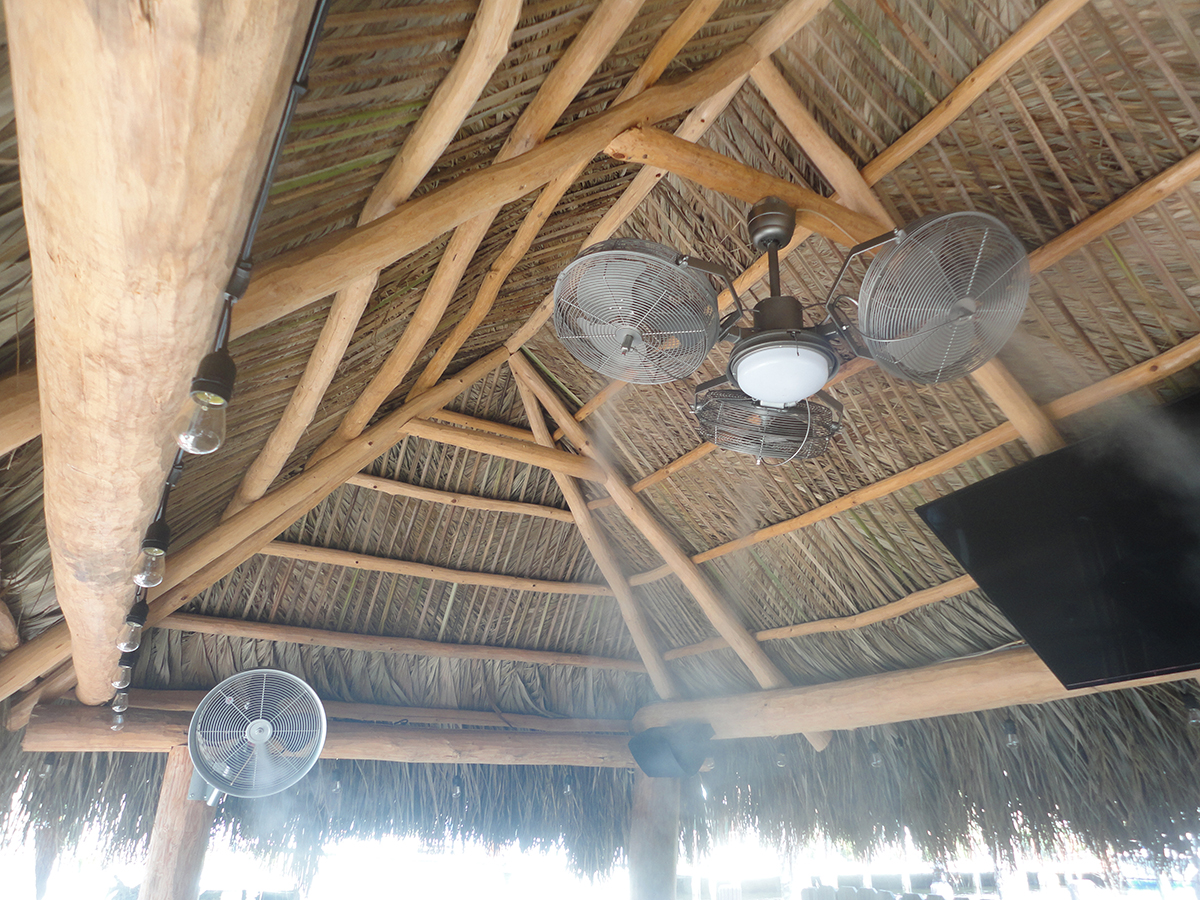 Tiki Hut Outdoor Misting Cooling Fans The Misting Stoe