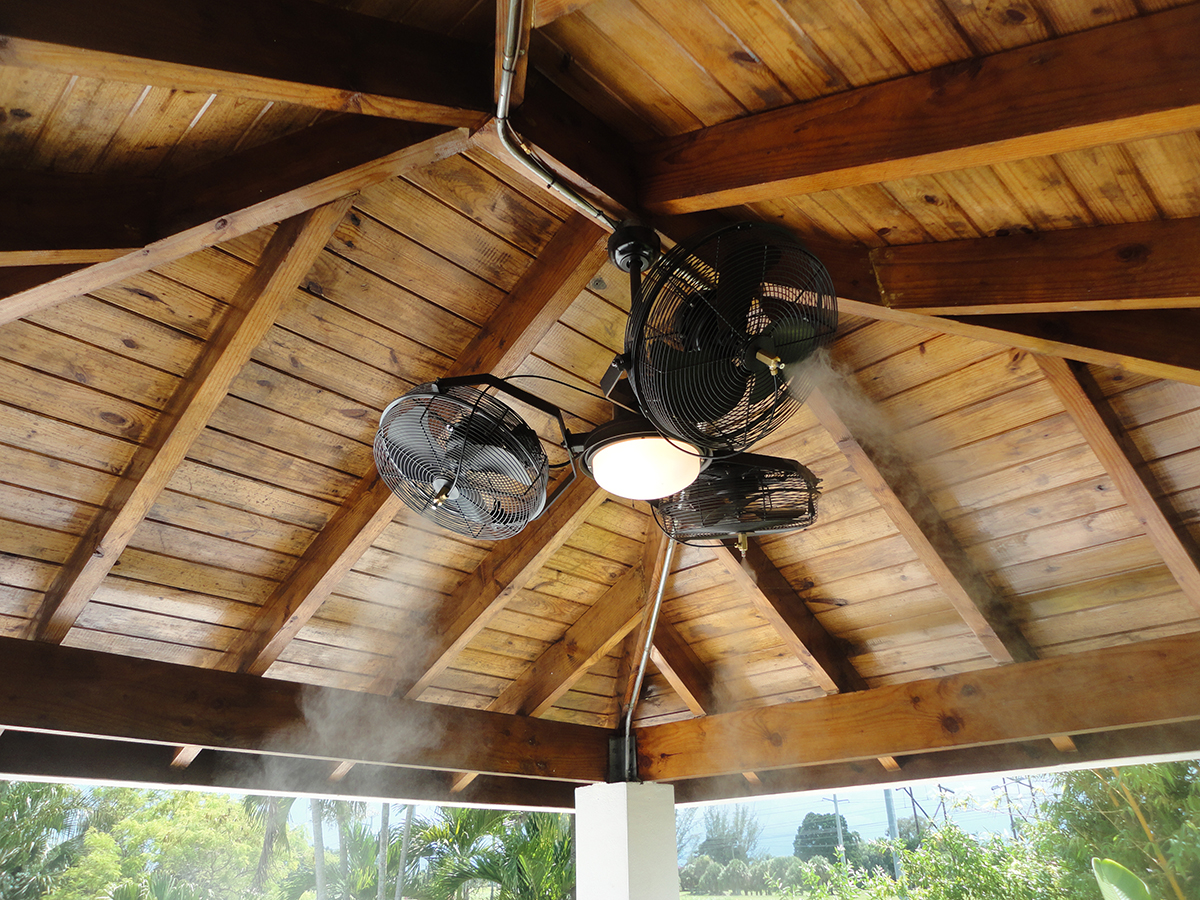 Tri Mist Ceiling Fan Damp Rated The Misting Stoe